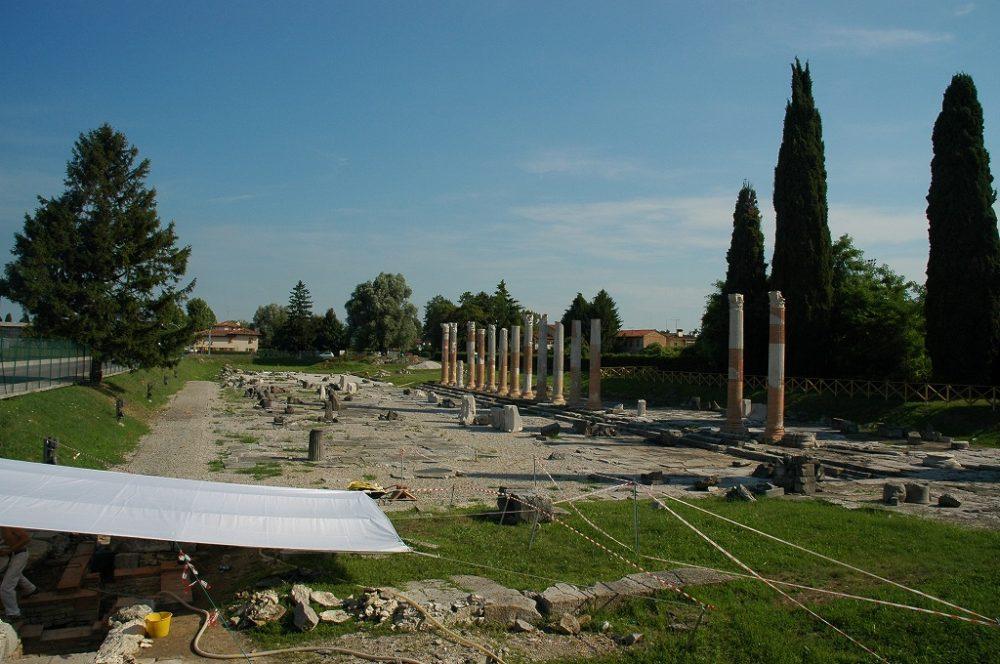 世界遺産アクイレイア、ローマ時代の遺跡。イタリア、フリウリ・ヴェネツィア・ジュリア、ウーディネ県