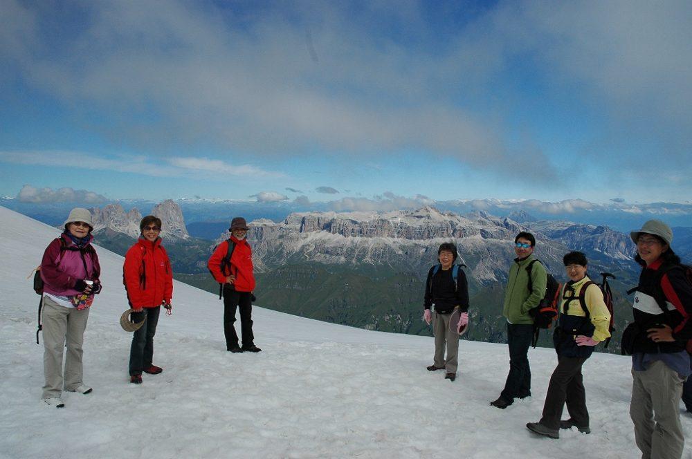 ドロミテ最高峰・マルモラーダ頂上