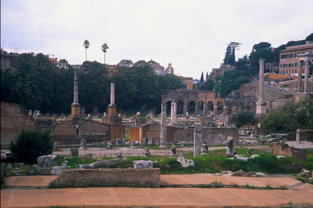 ローマ、フォロ・ロマーノ、ローマ時代の遺跡、イタリア世界遺産