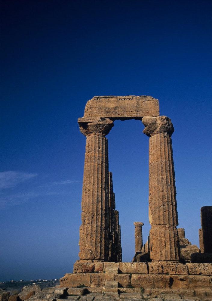 イタリアシチリア島、アグリジェント、神殿の谷、ジュノー神殿