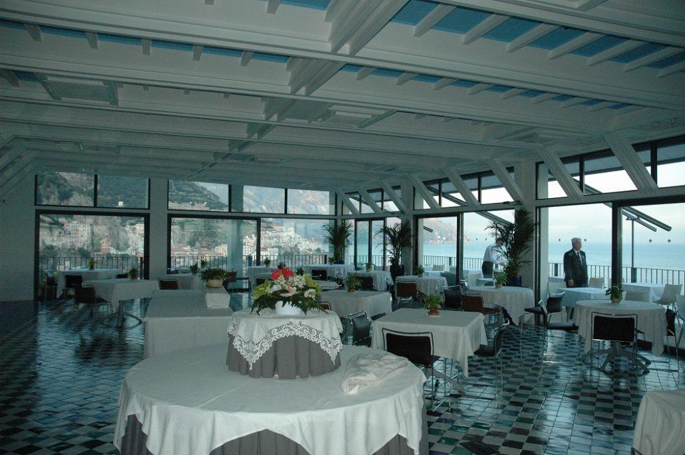 アマルフィ海岸のホテルレストラン