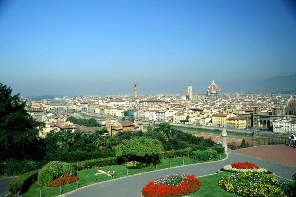 フィレンツェ歴史地区イタリア世界遺産。ミケランジェロの丘からの眺め
