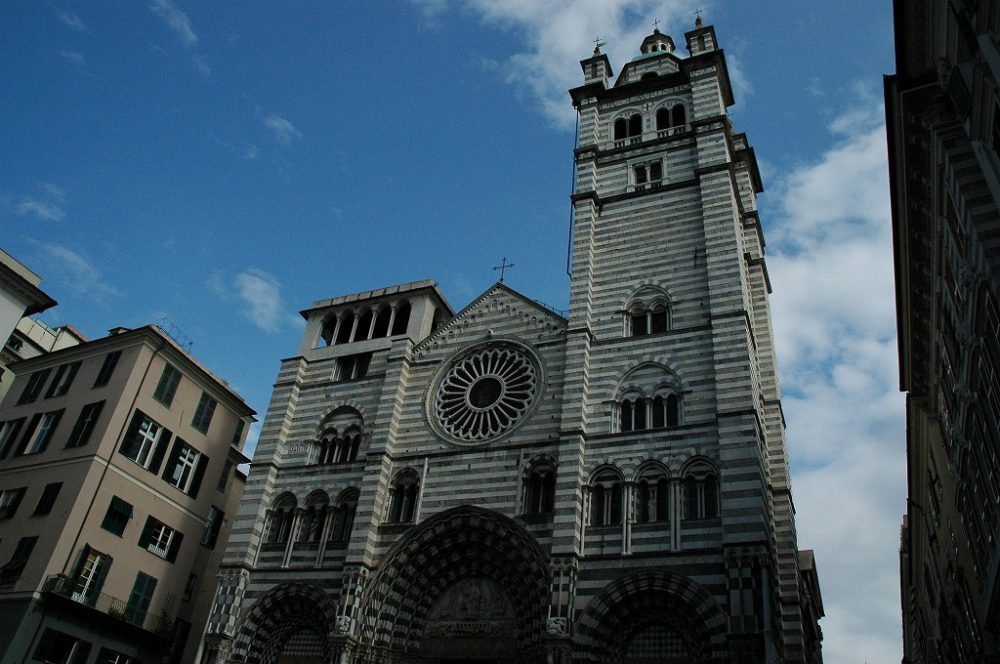 ジェノヴァ、歴史地区、サンロレンツォ大聖堂。12~14世紀。イタリア世界遺産。