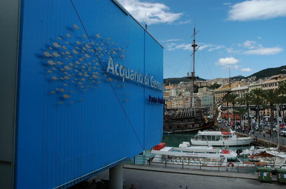 イタリア世界遺産。ジェノヴァ。ジェノヴァ旧港には水族館が。