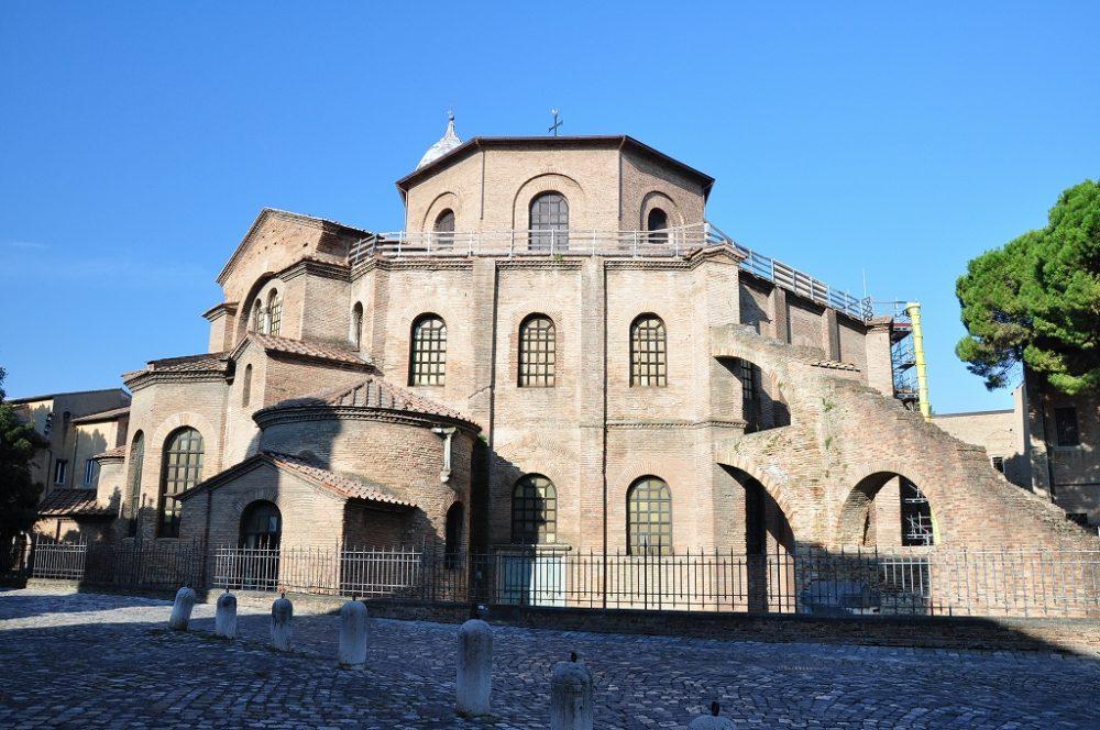 サン・ヴィターレ聖堂ラヴェンナにある世界遺産。モザイク壁画はこの教会の中に。