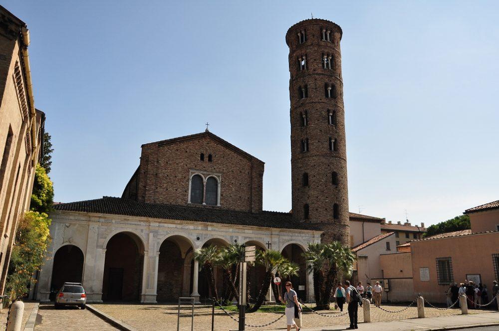 ラヴェンナ、サンタポッリナーレヌオーヴォ教会。世界遺産。モザイク壁画はこの教会の中に。